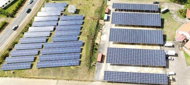 A solar farm in Port Vila